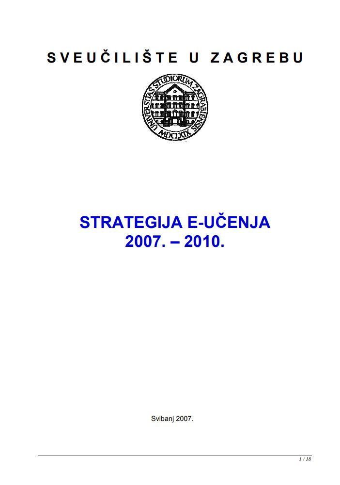 Strategija e-učenja 2007.-2010.