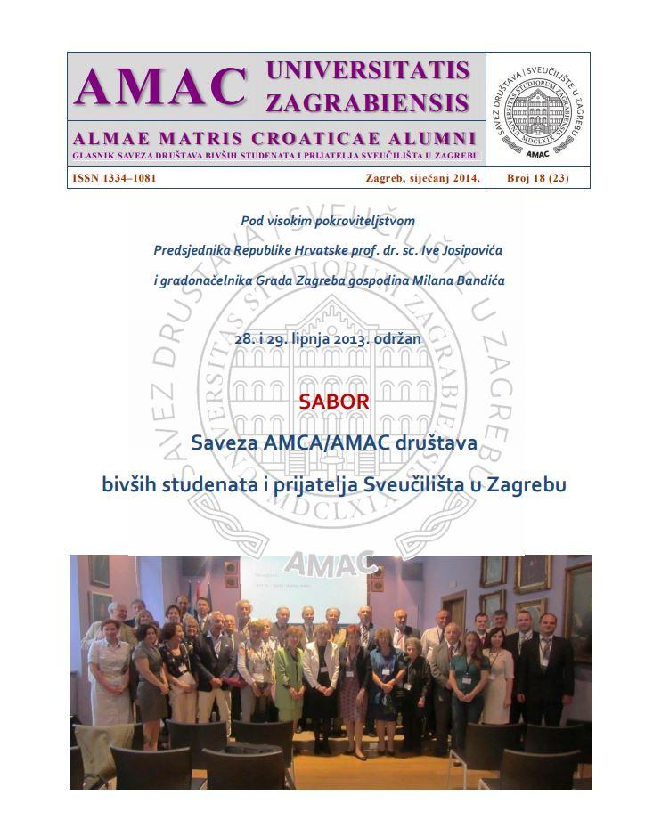 prikaz prve stranice dokumenta Glasnik Saveza društava bivših studenata i prijatelja Sveučilišta u Zagrebu 18(23), 2014