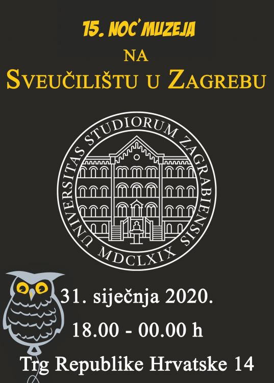 15. Noć muzeja na Svečilištu u Zagrebu